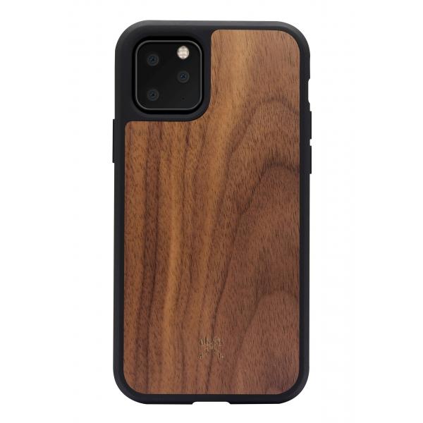 Woodcessories - Eco Bump - Cover in Legno di Noce - Nero - iPhone 11 Pro Max - Cover in Legno - Eco Case - Collezione Bumper