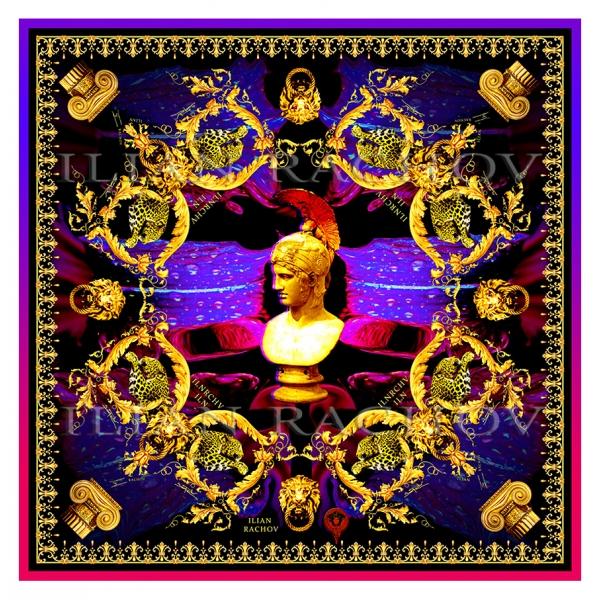 Ilian Rachov - Minerva Imperial Silk Scarf - Baroque - Foulard in Seta - Alta Qualità Luxury