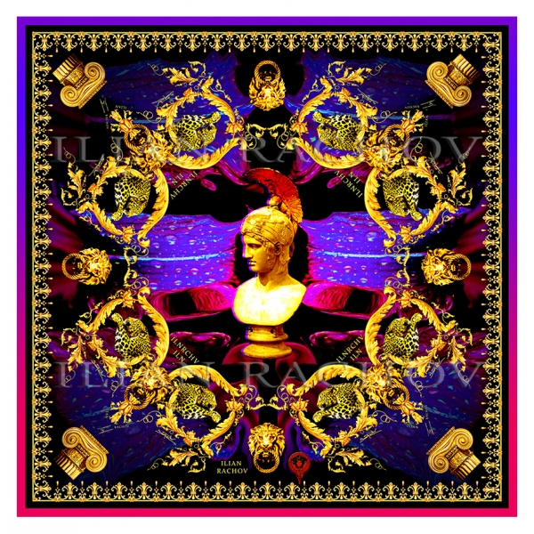 Ilian Rachov - Minerva Imperial Silk Scarf - Baroque - Silk Foulard - Luxury High Quality