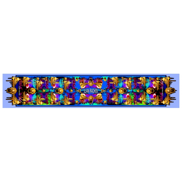 Ilian Rachov - Double Unisex Blue Silk Scarf Roman Heroes - Baroque - Foulard in Seta - Alta Qualità Luxury