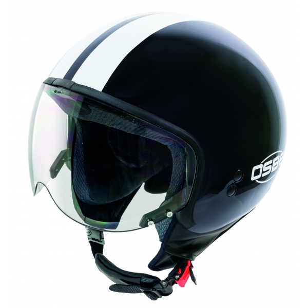 Osbe Italy - Bellagio Shiny Black - Motorcycle Helmet - High Quality - Made in Italy