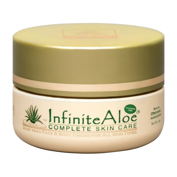 InfiniteAloe - Skin Care - Fragrance Free Formula - Crema Luxury Biologica - Aloe Vera - Anti-Aging - Cruelity Free - 60 ml