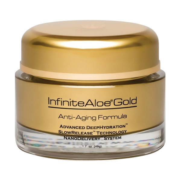 InfiniteAloe - Skin Care - Gold Anti-Aging Formula - Crema Luxury Biologica - Aloe Vera - Anti-Aging - Cruelity Free - 50 ml