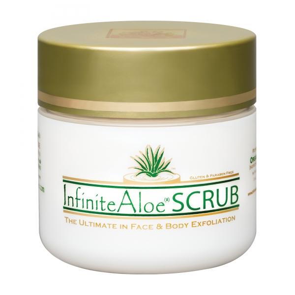 InfiniteAloe - Scrub - Luxury Organic Cream - Aloe Vera - Anti-Aging - Cruelity Free - 120 ml