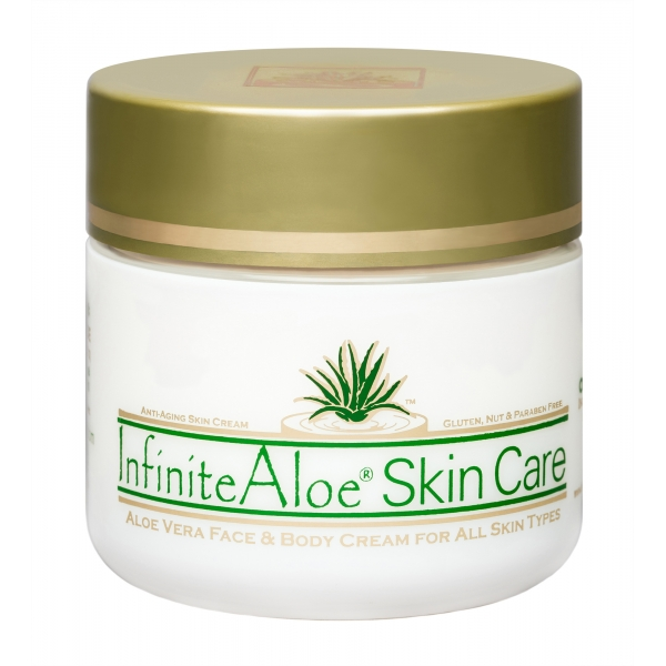 InfiniteAloe - Skin Care - Original Formula - Crema Luxury Biologica - Aloe Vera - Anti-Aging - Cruelity Free - 120 ml