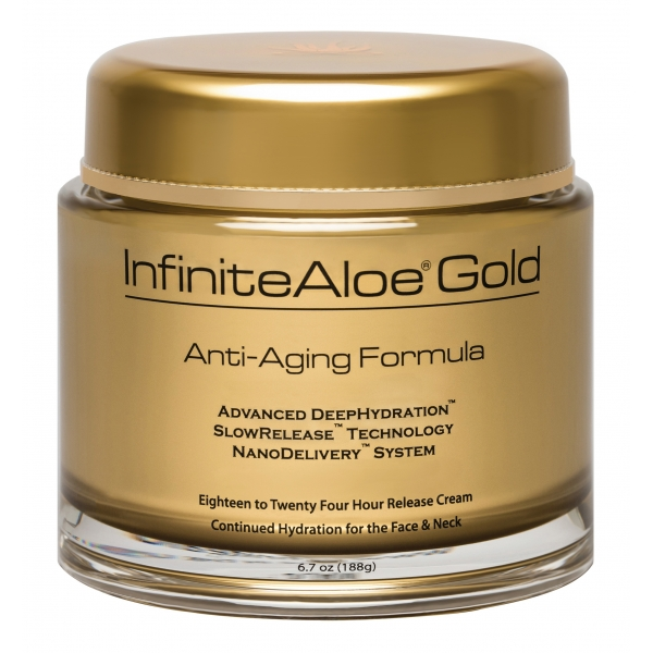 InfiniteAloe - Skin Care - Gold Anti-Aging Formula - Luxury Organic Cream - Aloe Vera - Anti-Aging - Cruelity Free - 200 ml