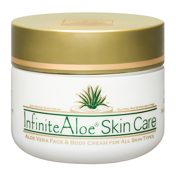 InfiniteAloe - Skin Care - Original Formula - Crema Luxury Biologica - Aloe Vera - Anti-Aging - Cruelity Free - 237 ml