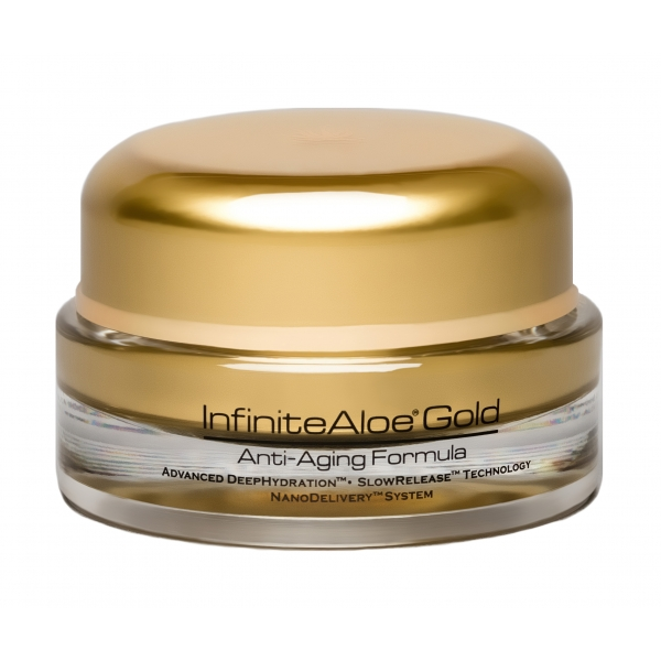 InfiniteAloe - Skin Care - Gold Anti-Aging Formula - Crema Luxury Biologica - Aloe Vera - Anti-Aging - Cruelity Free - 15 ml