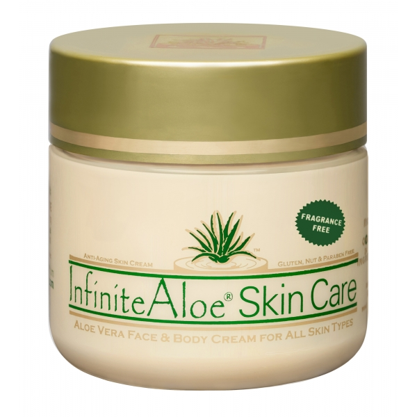 InfiniteAloe - Skin Care - Fragrance Free Formula - Crema Luxury Biologica - Aloe Vera - Anti-Aging - Cruelity Free - 120 ml