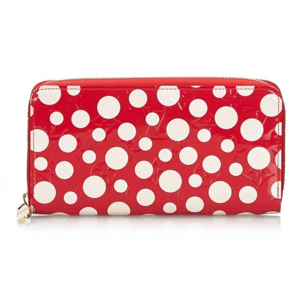 Louis Vuitton Vintage - Dots Infinity Vernis Zippy Wallet - Rossa Bianco - Portafoglio in Pelle - Alta Qualità Luxury