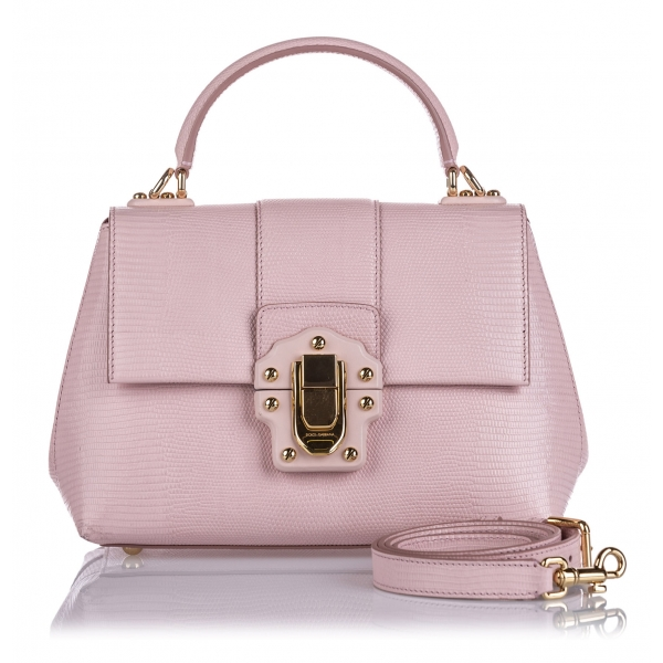 Dolce & Gabbana Vintage - Leather Lucia Satchel Bag - Rosa - Borsa in Pelle - Alta Qualità Luxury