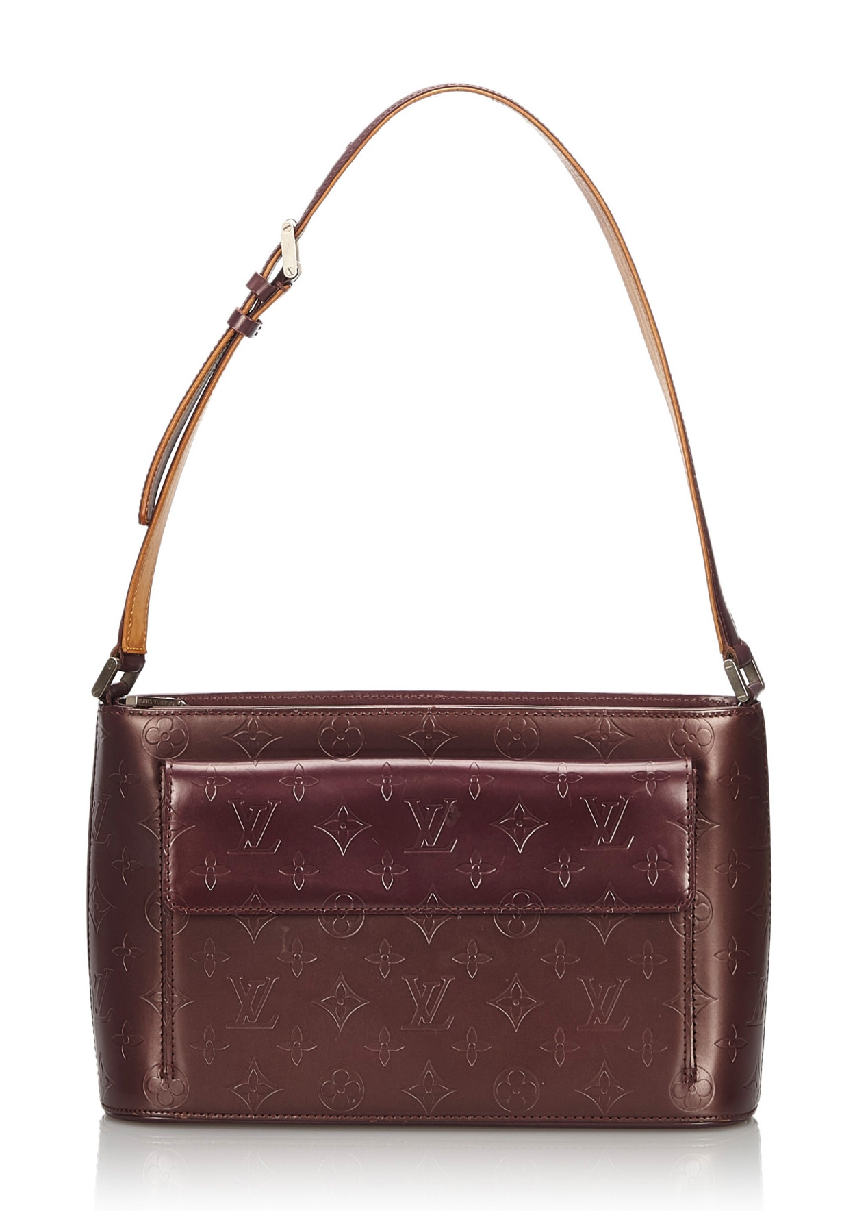 Dark Brown leather Shoulder Pad for your bag straps.
