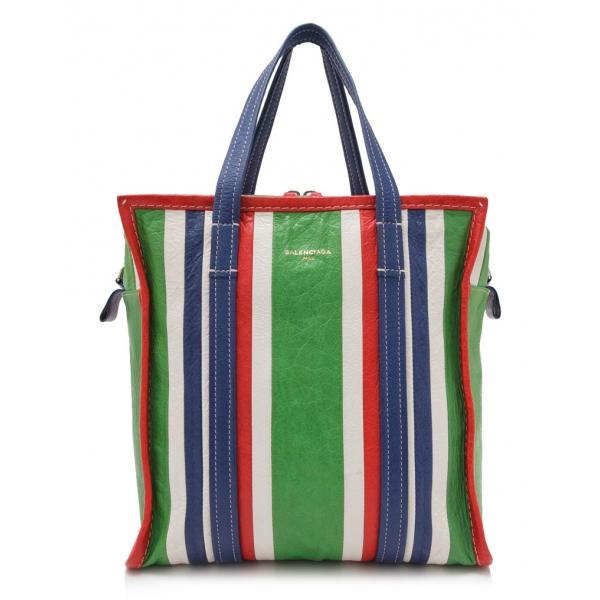 Balenciaga Vintage - Lambskin Bazar Shopper S Bag - Verde - Borsa in Pelle di Agnello - Alta Qualità Luxury