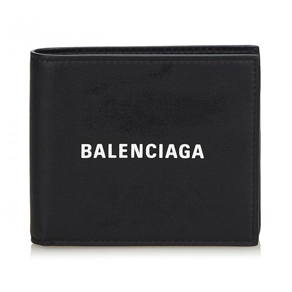 Balenciaga Vintage - Leather Everyday Square Wallet - Nero - Portafoglio in Pelle - Alta Qualità Luxury