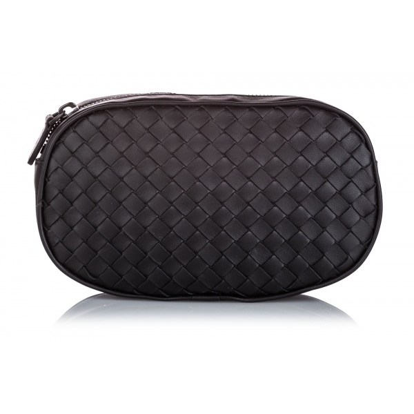 Bottega Veneta Vintage - Intrecciato Leather Belt Bag - Nero - Borsa in Pelle - Alta Qualità Luxury