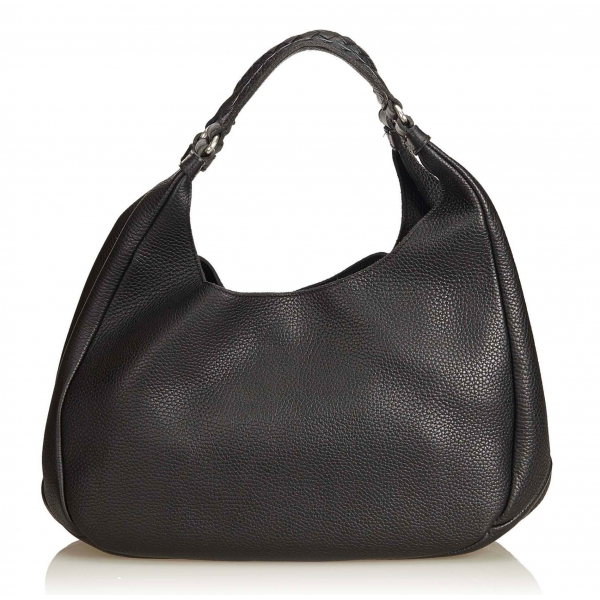 Bottega Veneta Vintage - Leather Hobo Bag - Nero - Borsa in Pelle - Alta Qualità Luxury