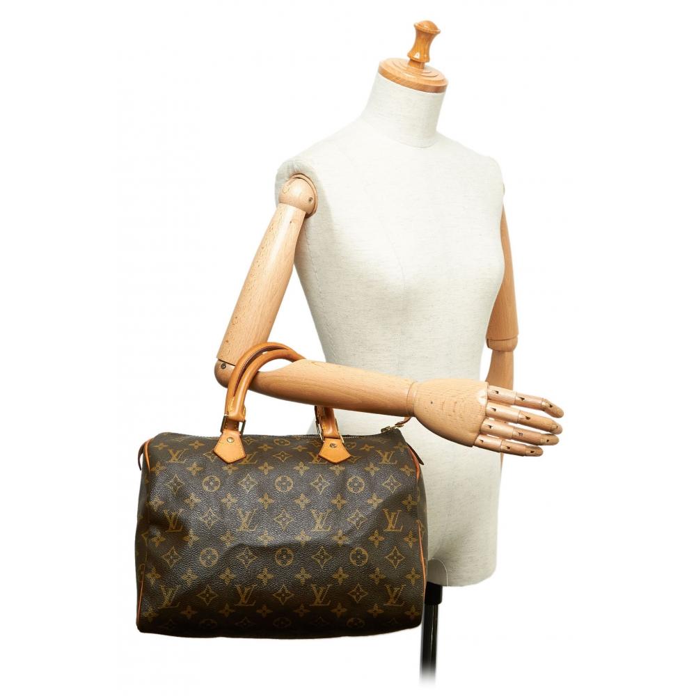 Louis Vuitton Vintage - Monogram Speedy 30 Bag - Marrone ...