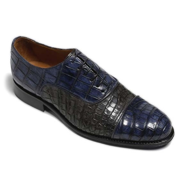 Vittorio Martire - Don Giovanni - Blue - Trendy Collection - Chrocodile - Italian Handmade Shoes - Luxury Leather