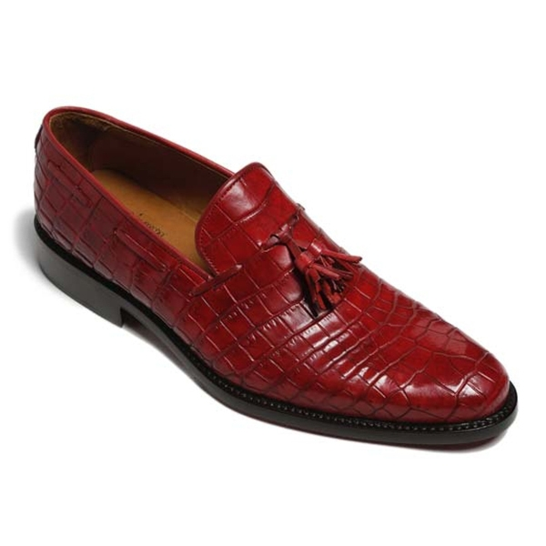Vittorio Martire - Snob - Red - Trendy Collection - Chrocodile - Italian Handmade Shoes - Luxury Leather