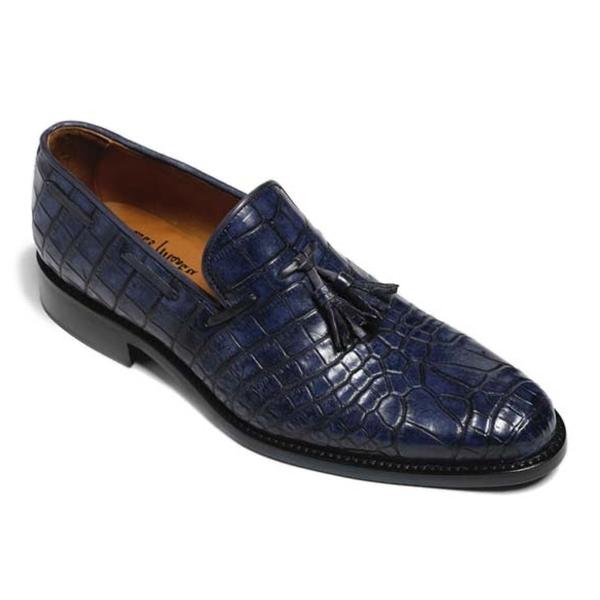Vittorio Martire - Snob - Blu - Trendy Collection - Coccordillo - Scarpe Artigianali Italiane - Pelle Luxury