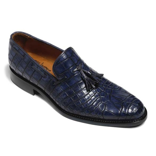 Vittorio Martire - Snob - Blue - Trendy Collection - Crocodile - Italian Handmade Shoes - Luxury Leather
