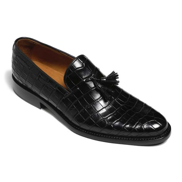 Vittorio Martire - Snob - Black - Trendy Collection - Crocodile - Italian Handmade Shoes - Luxury Leather