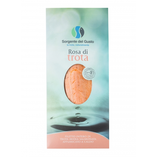 Sorgente del Gusto - Rosa di Trota - Filetto Intero di Trota Iridea Salmonata Affumicato a Caldo - Trota di Sorgente