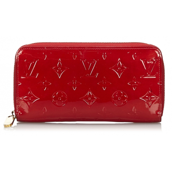 Louis Vuitton Vintage Vernis Zippy Wallet Red Vernis Leather And Leather Wallet Luxury High Quality Avvenice