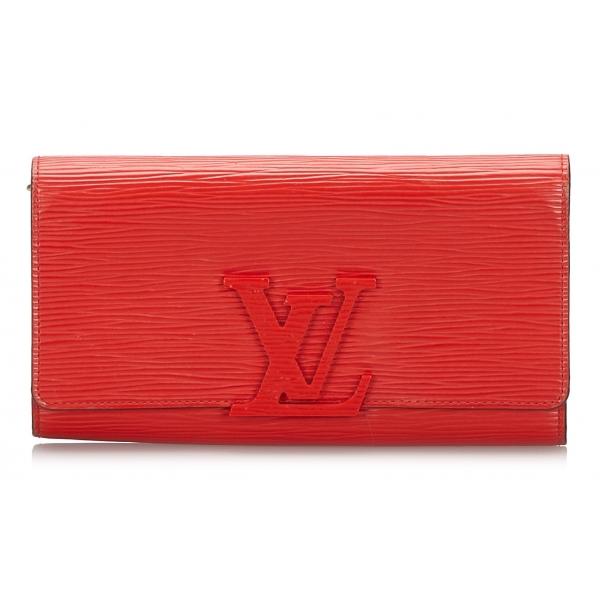 Louis Vuitton Vintage - Epi Louise Long Wallet - Rossa - Portafoglio in Pelle Epi e Pelle - Alta Qualità Luxury