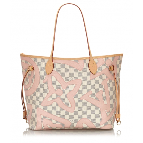 Louis Vuitton Vintage - Damier Azur Tahitienne Neverfull MM Bag - Bianco - Borsa in Pelle - Alta Qualità Luxury