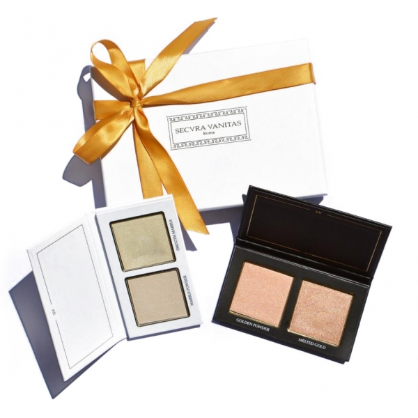 Secura Vanitas - Rome - Golden Marble Highlighter - Gift Box - Illuminating - Oro - Luxury Collection - Viso - Professional