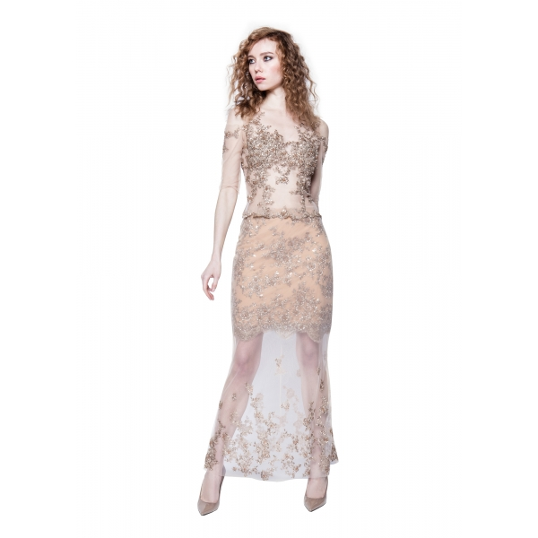 Sofia Provera - Ambra Top - Dress - Luxury Exclusive Collection - Haute Couture Made in Italy - Luxury High Quality Dress