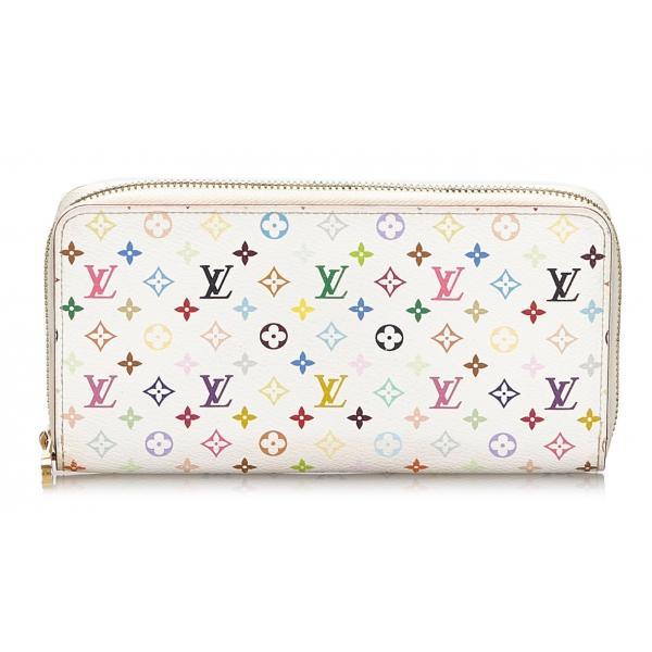 Louis Vuitton Vintage - Monogram Multicolore Zippy Wallet - White - Monogram Canvas Wallet - Luxury High Quality