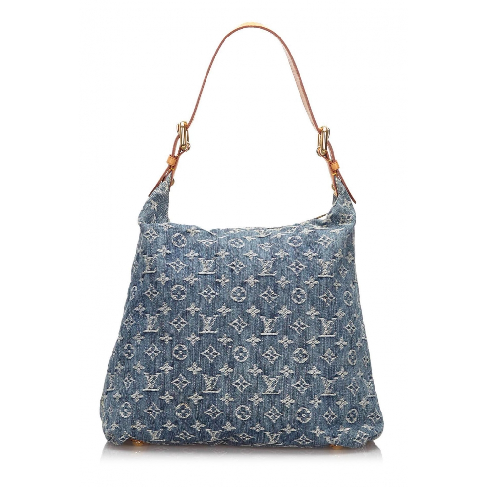 Louis Vuitton Vintage - Monogram Denim Baggy GM Bag - Blu ...