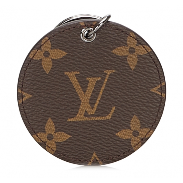 Louis Vuitton Vintage - Monogram Monogram Illustre Logos Bag Charm - Brown - Monogram Canvas Keychain - Luxury High Quality