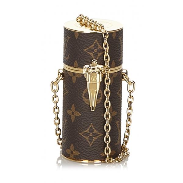 Louis Vuitton Vintage - Monogram Lipstick Case - Brown - Monogram Canvas and Metal Case- Luxury High Quality