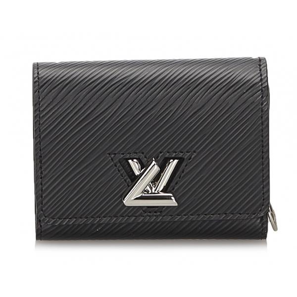 Louis Vuitton Vintage - Epi Twist Compact Wallet - Nero - Portafoglio in Pelle Epi e Pelle - Alta Qualità Luxury