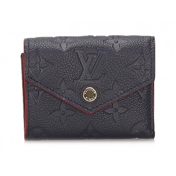 Louis Vuitton Vintage - Monogram Empreinte Zoe Wallet - Nero - Portafoglio in Pelle x Vitello - Alta Qualità Luxury