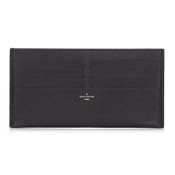 Louis Vuitton Vintage - Taiga Pochette Felicie Insert Pouch - Black - Leather and Taiga Leather Pouch - Luxury High Quality