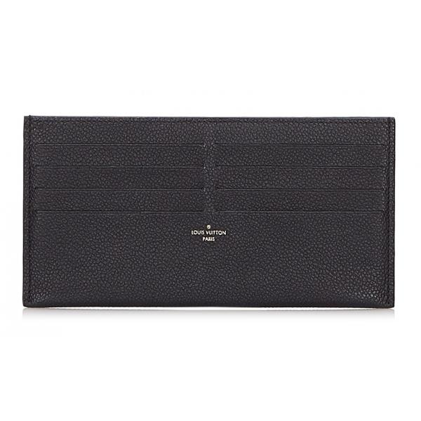 Louis Vuitton Vintage - Taiga Pochette Felicie Insert Pouch - Nero - Pochette in Pelle Taiga e Pelle - Alta Qualità Luxury