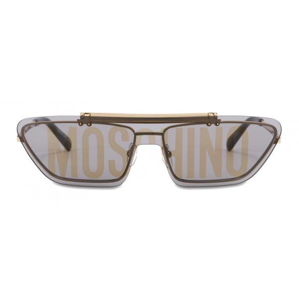 Moschino - Occhiali da Sole Flip On con Logo - Rosa Platino - Moschino Eyewear