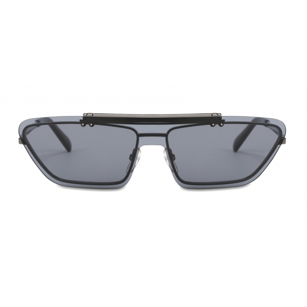 Moschino - Flip On Sunglasses with Logo - Black - Moschino Eyewear