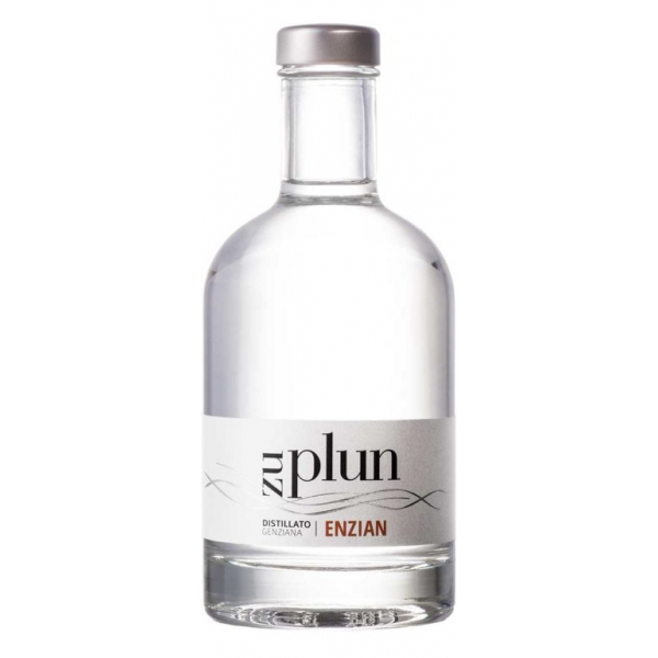 Zu Plun - Gentian Grappa Enzian - Distillates Herbs Grappa from The Dolomites - High Quality - Liqueurs and Spirits