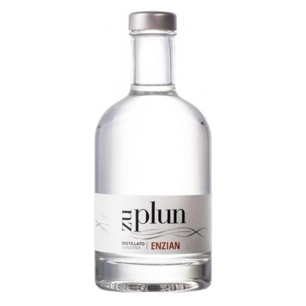 Zu Plun - Distillato di Genziana Enzian - Distillati alle Erbe e Bacche dalle Dolomiti - Alta Qualità - Liquori e Distillati