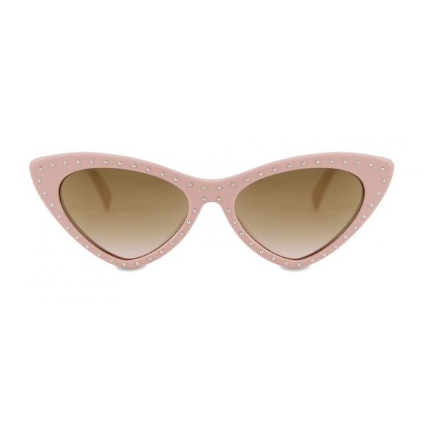 Moschino - Cat Eye Sunglasses with Micro Studs - Pale Pink - Moschino Eyewear