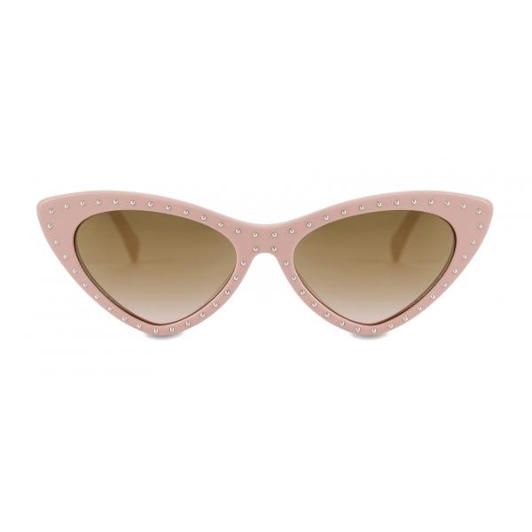 Moschino - Occhiali da Sole Cat Eye con Macro - Rosa Chiaro - Moschino Eyewear
