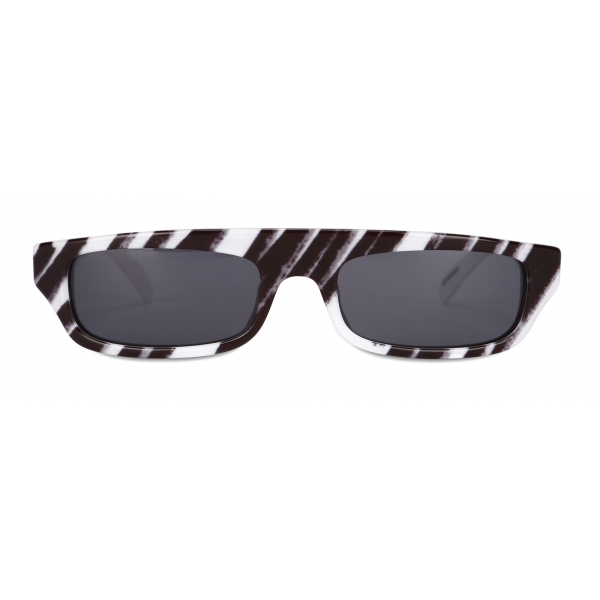 Moschino - Brushstroke Sunglasses - White - Moschino Eyewear