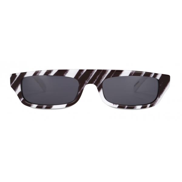Moschino - Occhiali da Sole Brushstroke - Bianco - Moschino Eyewear