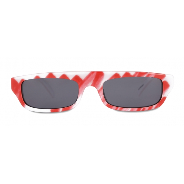 Moschino - Brushstroke Sunglasses - Red - Moschino Eyewear