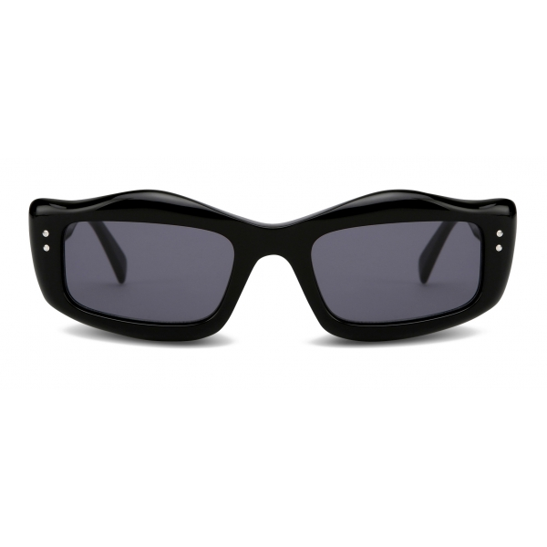 Moschino - Sunglasses with Micro Studs Detail - Black - Moschino Eyewear